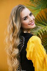 Yellow (BrN) Tags: portrait beauty face hair makeup blonde