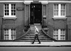 London - July 2015 (S.R.Murphy) Tags: people blackandwhite building london monochrome architecture streetphotography socialdocumentary seymourhouse july2015 fujix100t