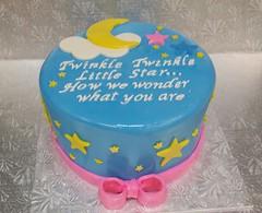 Gender Reveal Cake (dragosisters) Tags: pink blue boy baby girl cake star gender babyshower nurseryrhyme twinkletwinkle genderreveal