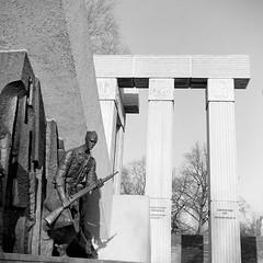Warsaw Uprising Monument, Warsaw (M.M.A.K.) Tags: 6x6 mediumformat poland warsaw fujineopanacros100 fujifilmneopan100acros start66s film:brand=fuji film:iso=100 film:name=fujineopanacros100 filmdev:recipe=10499