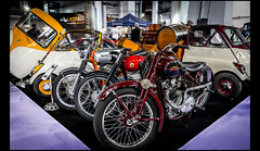 Norton Commando 850 MK2A (1973) / Montesa Brio 110. (1961) / Motocicleta Marca Standard Rex 350cc (1935) (Laurent DUCHENE) Tags: 110 norton brio marca standard rex commando 850 motocicleta 2015 350cc montesa mk2a autortro