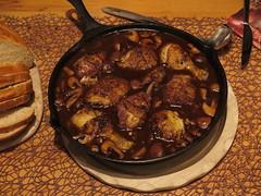 Coq au vin (Pfanne) (multipel_bleiben) Tags: essen pilze geflgel pfannengericht