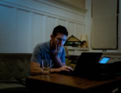 (CarbonNYC [in SF!]) Tags: computer dark livingroom me self selfportrait