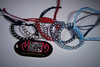Handmade unisex bracelets for BJD SD - 70+ Dolls (Dark0na) Tags: darkona workshop handmade leather bracelets knitted sd doll dolls bjd makrame