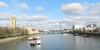 River Thames from Lambeth Bridge, London, Feb 2016 (allanmaciver) Tags: lambeth bridge london england capial city river thames house parliament eye vessel clouds calm walk viewpoint allanamciver