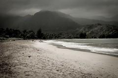 Copy of Kauai b&w51-2 (chiarina2016) Tags: kauai hawaii island beach monotone blackandwhite chiarinaloggia stormyseas waves trails hiking surf hanalei hanaleibeach sea ocean sunset