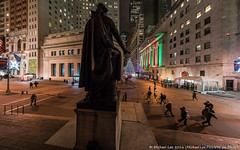 Federal Hall Fisheye View (20161207-DSC08726) (Michael.Lee.Pics.NYC) Tags: newyork federalhall nyse newyorkstockexchange wallstreet broadstreet lowermanhattan architecture georgewashington christmas tree holiday night fisheye cityscape sony a7rm2 rokinon12mmf28
