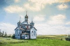 Prairie Fingerprint (DeVaughnSquire) Tags: ukrainian orthodoxchurch abandoned vintage prairies saskatchewan marysville religion pioneers history lost forgottensummer