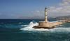 Phare de Chania (HimalAnda) Tags: chania lacanée crète grèce phare lighthouse vague wave mer océan sea canoneos400d eos400d stéphane bon
