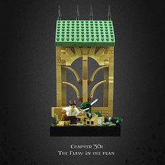 Harry Potter and the Deathly Hallows 29 – Neville Be-heads Nagini (Umm, Who?) Tags: lego harry potter deathly hallows jk rowling warner brothers ron hermione britain magic chapter 35 flaw plan neville nagini voldermort sorting hat hogwarts battle architecture final chapters sword gryffindor