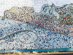 Unfinished Mosaic (WVJilly) Tags: 365the2017edition 3652017 day4365 4jan17 mosaic glass seagrass community artistic creative stmarys wv westvirginia mural building