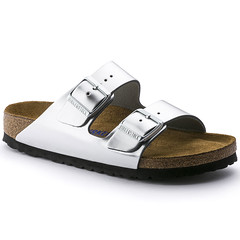 "Birkenstock Arizona sandal metallic silver • <a style=""font-size:0.8em;"" href=""http://www.flickr.com/photos/65413117@N03/32208163094/"" target=""_blank"">View on Flickr</a>"