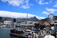 V&A waterfront and table mountain (ChiJu Wu) Tags: waterfront capetown southafrica travel cloud tablemountain