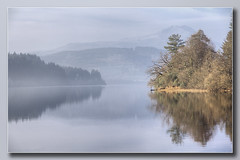 Loch Ard Reflection #2 (Bill McKenzie / bmphoto) Tags: lochard trossachs reflections trees mist hazy benlomond best lochlomondandtrossachsnationalpark