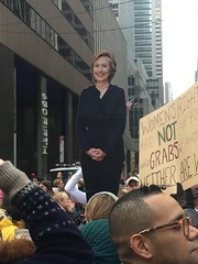 Women's March on NYC (Cait_Stewart) Tags: womensrights antitrump march protest usa newyork nyc womensmarchonwashington womensmarchonnyc womensmarch imwithher sign cutout hillaryclinton