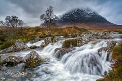 A highland classic .. (Mike Ridley.) Tags: buachailleetivemor buachaille riveretive waterfall nature landscapephotographer landscape scotland sonya7rll sonya7r2 sonyfe1635f4 leefilters mikeridley glencoe