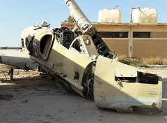 A-4KU Skyhawk 821 ex 9Sq Kuwait Air-Force/ KAF. Wreckage/ Dumped with Kuwait Air-Force Museum. Al Mubarak/ Nawaf Ahmad Air-Base, Kuwait. 2016. (Aircraft throughout the years) Tags: douglas a4 a4ku skyhawk 821 9sq kuwait airforce kaf wreckage dumped museum al mubarak nawaf ahmad airbase 2016