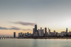 Sunset over Chicago (AindriúH) Tags: fullerton chicago longexposure cityscape sunset