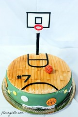 Basketball Court Cake (taliajones) Tags: basketball basketballcourt cake gumpaste fondant birthdaycake sports