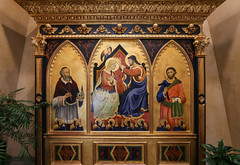 Oakland Cathedral Triptych (Lawrence OP) Tags: coronation blessedvirginmary jesuschrist stfrancisdesales stjoseph triptych reredos