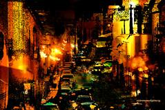 NIGHTLIFE IN SAN MIGUEL ALLENDE. (Viktor Manuel 990.) Tags: city nightlife vidanocturna surrealism surrealista digitalart artedigital guanajuato méxico victormanuelgómezg night abstract abstracto
