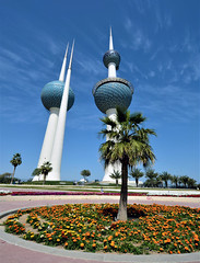 Kuwait Towers. (Colin McLurg) Tags: kuwait kuwaittowers kuwaitcity iconic towers colinmclurg