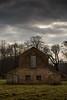 Barn (Chris O'Brien Photography) Tags: brick grim spooky storm darksky sky wood trees field barn uk dunhammassey 5dmk3 5d3 canon ef70200mmf28isiiusm eos5dmarkiii bowdon england unitedkingdom gb
