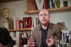 Besedu moderoval literární historik Martin C. Putna. (Knihovna Vaclava Havla) Tags: mcputna putna