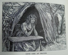 Gipsy Girl At Prayer (University of Glasgow Library) Tags: occult magic spiritualism 19thcentury gypsy gypsysorcery sorcery mysticism illustration drawing