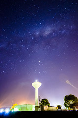 water tower (Indigo Skies Photography) Tags: milkyway galaxy galacticcentre stars universe sun sky sunset street streetscape art australia colour color digital flowers flower garden green home image highiso nikond7000 old outdoor photography people person aperture rural road landscape tokina1116mmf28 victoria water wideangle white exposure yellow pink orange blue nightsky nighttime trees tree red depthoffield spring