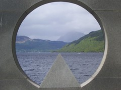 Porthole to Loch Lomond (rumpie) Tags: sculpture mountain water scenery loch rowardennan