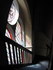 From the West Gallery (roath_park_mark) Tags: church southwales wales stairs cardiff victorian stainedglass baptist theparade tredegarvillebaptistchurch tredegarville