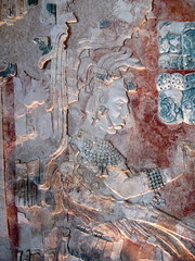 Painted frieze in Palenque Museum (yaxchibonam) Tags: mexico site ruins maya selva 124 mayan palenque chiapas archeological nov2909