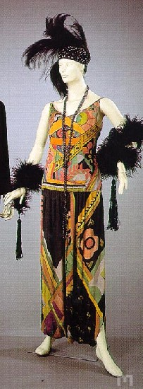 Jazz age dress by Sonia Delaunay, 1920, 1928