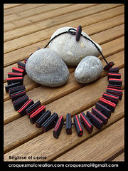 Rglisse et cerise (lavomatic) Tags: fashion collier  handmade unique main jewelry bijou clay jewels mode argile fait perle jewel vendre polymer polymre bijouterie croquezmoicreation croquezmoicreationcom croquezmoi croquezmoigmailcom plomyer