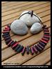Réglisse et cerise (lavomatic) Tags: fashion collier à handmade unique main jewelry bijou clay jewels mode argile fait perle jewel vendre polymer polymère bijouterie croquezmoicreation croquezmoicreationcom croquezmoi croquezmoigmailcom plomyer