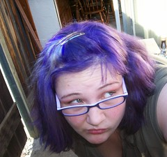 whatever? (Corissa - Triclyops) Tags: new june hair purple 2006 gert shorter runaways corissa