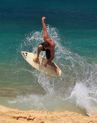 Two Feet of Water (Haiku Heidi) Tags: beach hawaii surf action maui skimboarding bigbeach haikuheidi