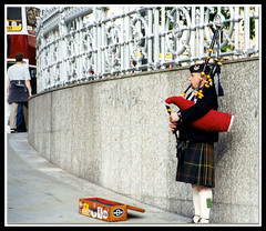 """BAGPIPER"" - Edinburgh, Scotland (mambo1935) Tags: street city uk trip travel blue red vacation people urban musician music white streetart black color green yellow scotland edinburgh europe kilt tour britain live father livemusic scottish son streetartist performer streetshow bagpiper tartan streetperformance entertainers gpipe mambo1935"
