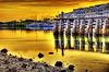 Yellow (worldwidewandering) Tags: sunset usa sun beach topf25 water america d50 nikon rocks saveme florida deleteme10 indian united 2006 indianrocksbeach nikond50 states walsingham largo hdr photomatix interestingness88 i500 hamlinslanding worldwidewandering
