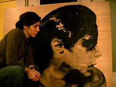 peinture de moi  ct de moi (marmod8) Tags: selfportrait art ink painting