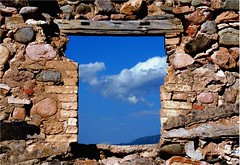 Picture Frame (Ketosea) Tags: pictures old blue sky house history window colors clouds wow amazing cool nice interesting bravo perfect nuvole sardinia song top explorer dream best frame singer poet stunning fav campagne francesco passato architrave guccini welldone ruderi breack abigfave p1f1 ketosea