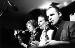 Unterfahrt (Emily Ruth) Tags: bw music film musicians germany print munich concentration jazz jazzclub saxophone intensity
