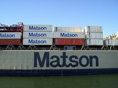 Matson ship in Oakland