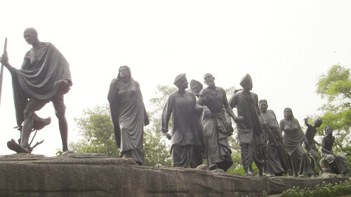 Gandhi Salt March Statue in