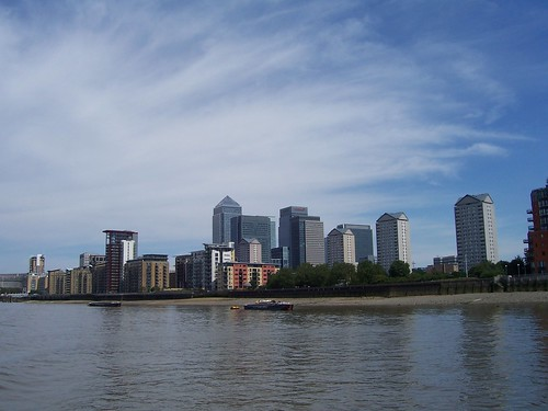 Canary Wharf from the Thames