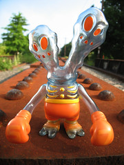 Secret Base Ghostfigter (Drew from the Slope) Tags: orange toy japanese secret urbanvinyl base kaiju ghostfighter