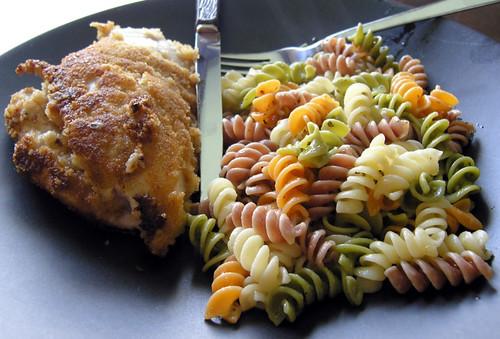 Ranch Chicken and Tri-Color Pasta
