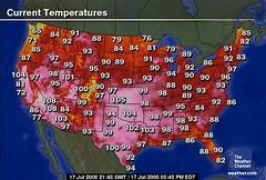 Heat Wave (sarahfriedlander) Tags: hot weather computer map screen com jul pm current channel heatwave temperatures gmt weathercom edt