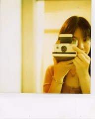 hello from lotta :) (mika-rin) Tags: me sx70 happy 600 lotta veryfirstshot